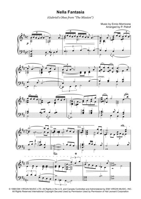 Download nella fantasia gabriel 39 s oboe from the mission for Nella fantasia il divo