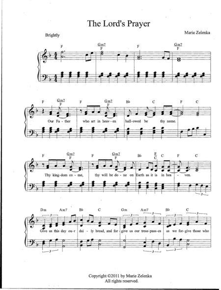 The Lord's Prayer - Piano with lyrics