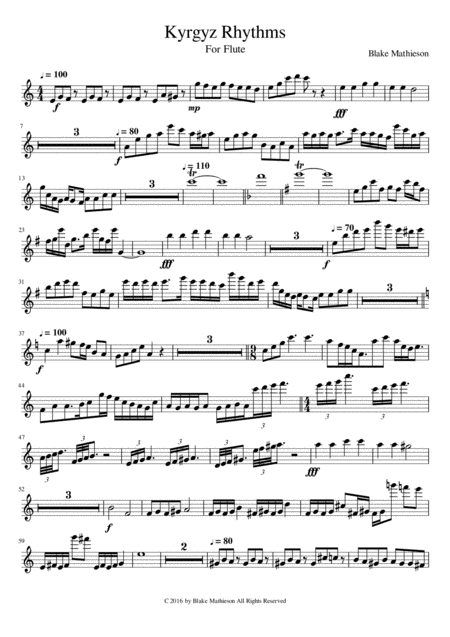 Kyrgyz Rhythms for Flute