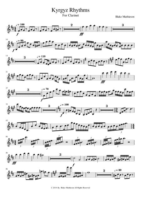 Kyrgyz Rhythms for B flat Clarinet