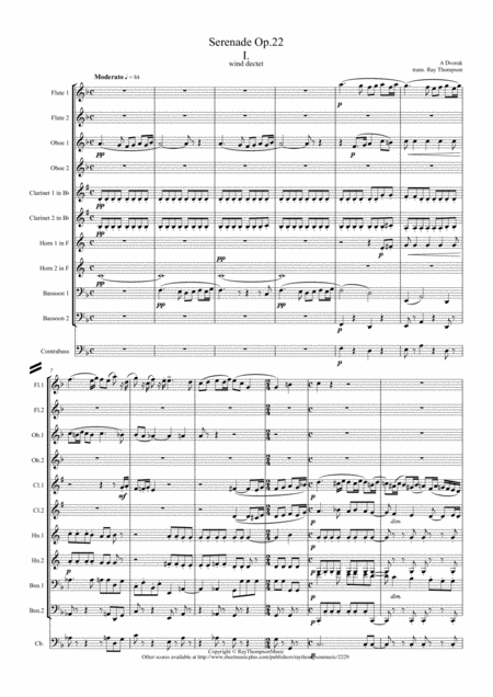 Dvorak: Serenade for Strings Op.22 Mvt. I - symphonic wind ensemble