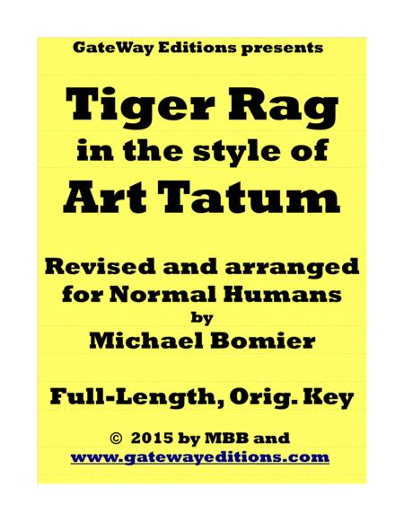 Tiger Rag, ala' Art Tatum, for Normal Humans