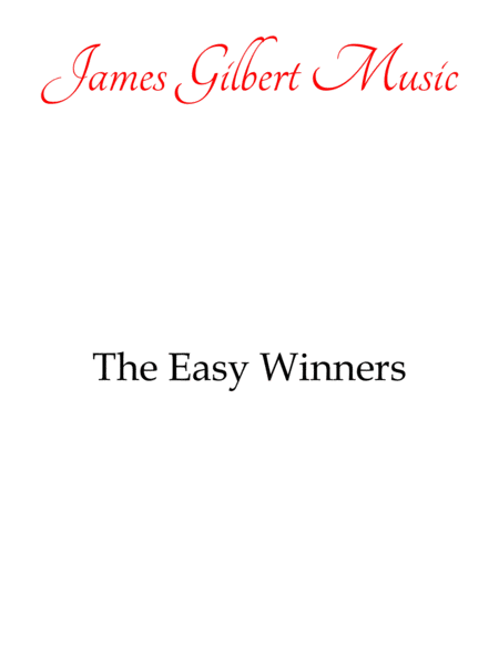 The Easy Winners (Joplin)