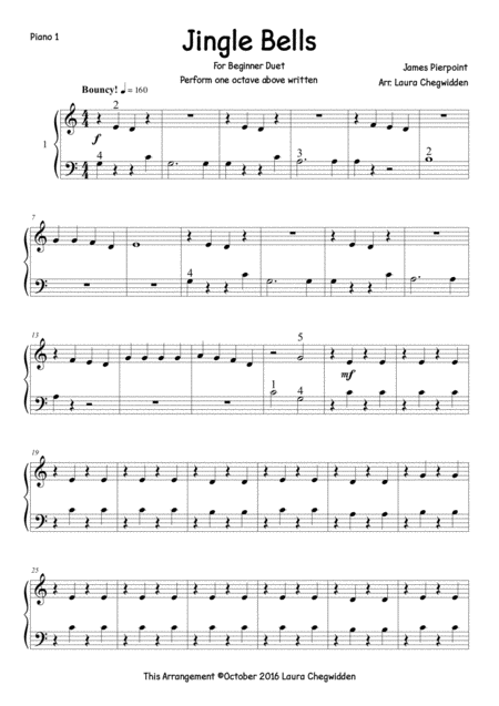 Jingle Bells Piano Duet