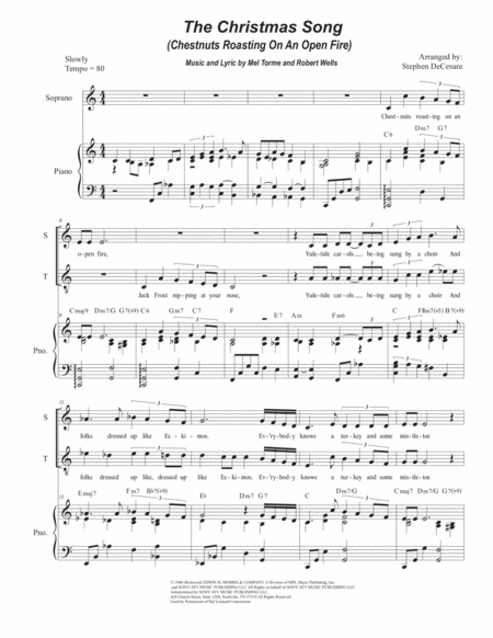 The Christmas Song (Chestnuts Roasting On An Open Fire) (Duet for Soprano and Tenor Solo)