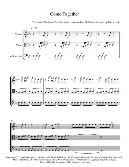 Come Together - String Trio (vln, vla, cello)