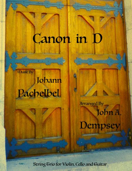 Canon in D (String Trio for Violin, Cello and Guitar)