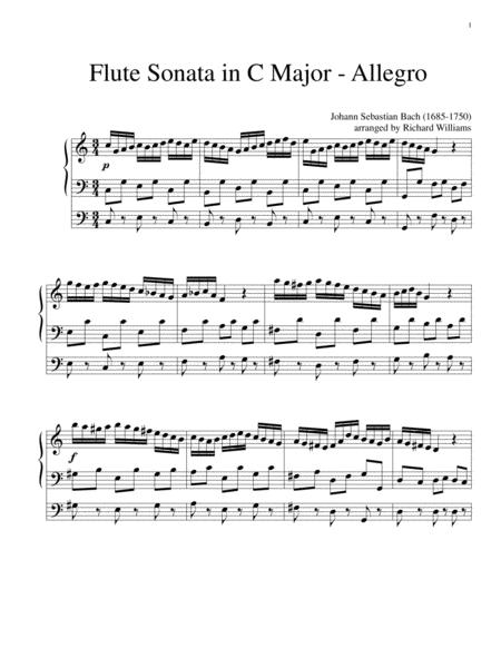 Allegro from Flute Sonata in C