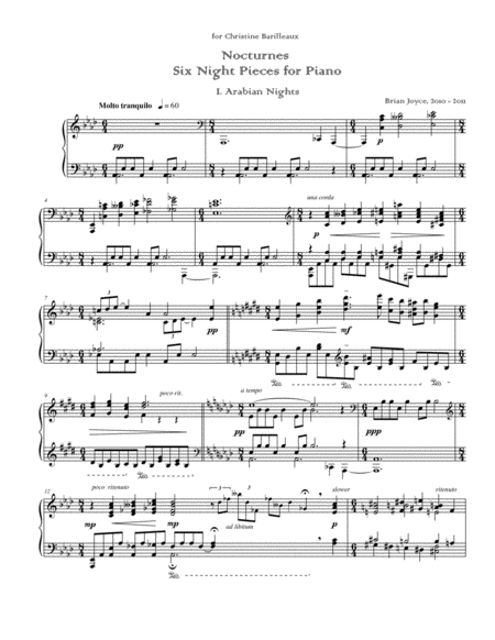 Nocturnes: Six Night Pieces for Piano
