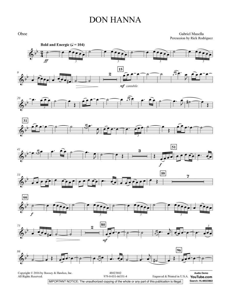 Don Hanna - Oboe