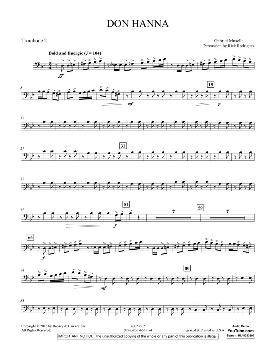 Don Hanna - Trombone 2