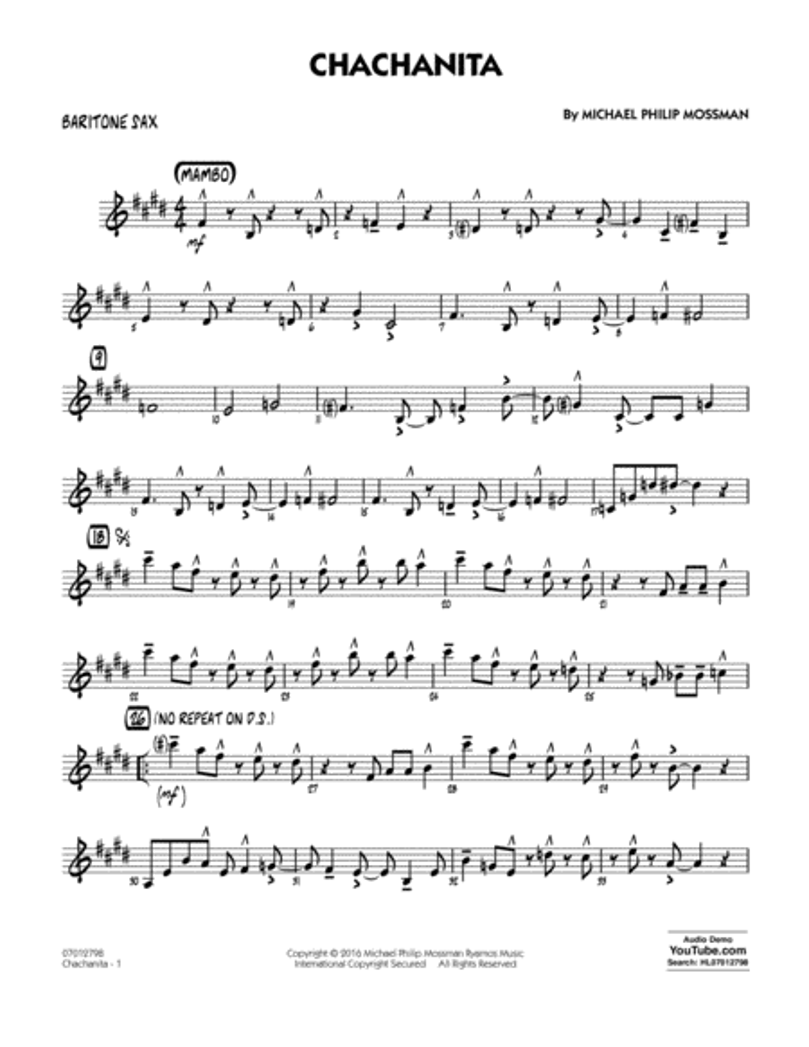 Chachanita - Baritone Sax