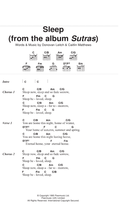 Sleep (From Album Sutras)