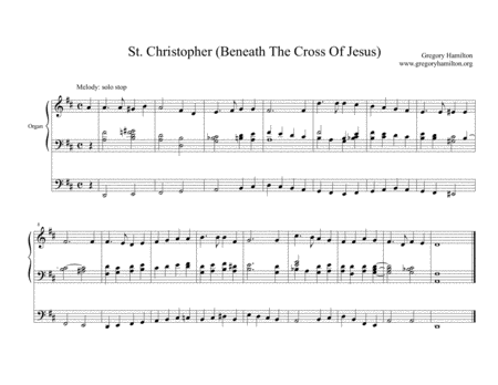 Beneath the Cross of Jesus - St. Christopher Alternate Harmonization for Organ