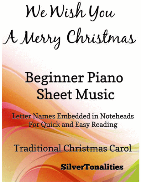 We Wish You a Merry Christmas Elementary Beginner Piano Sheet Music