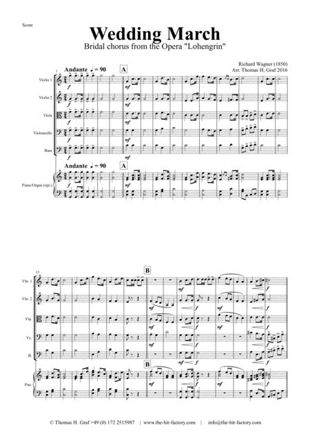 Wedding March - Bridal chorus Lohengrin - String Orchestra