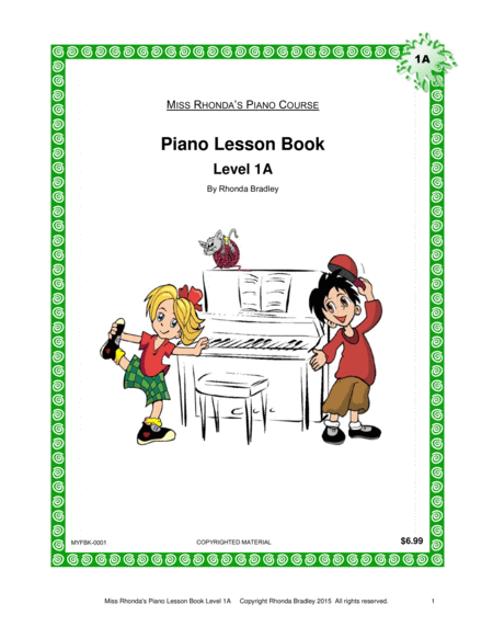 Piano Lesson Book 1A Miss Rhonda's Piano Course for Kids