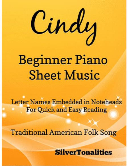 Cindy Beginner Piano Sheet Music