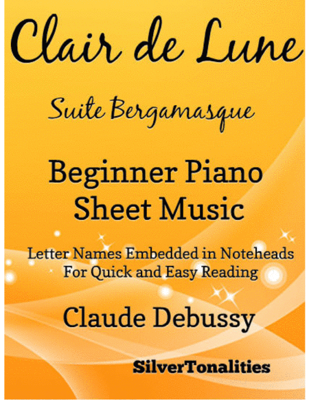 Clair de Lune Beginner Piano Sheet Music