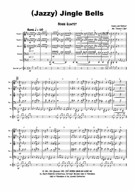 Jazzy Jingle Bells - Christmas Swing - Brass Quintet