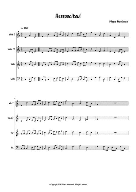 Ressuscitou! String Quartet