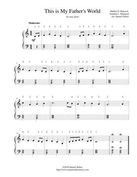 This is My Father's World - for easy piano