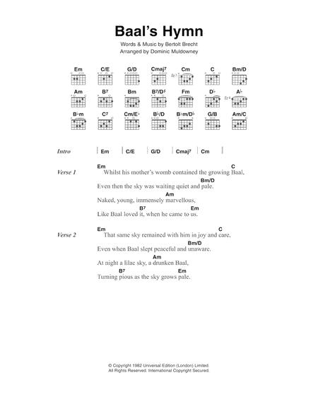 Baal's Hymn