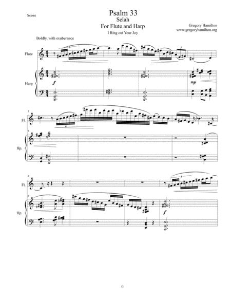 Psalm 33 Selah For Flute and Harp
