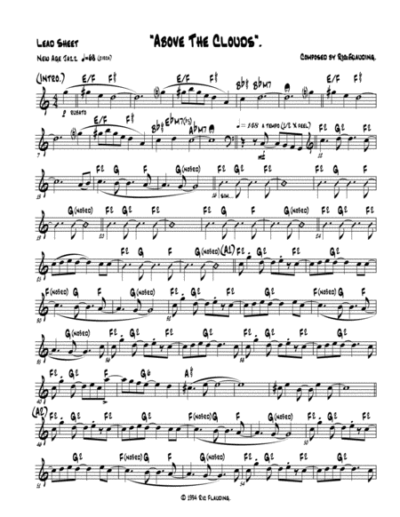 Above The Clouds (Lead Sheet)