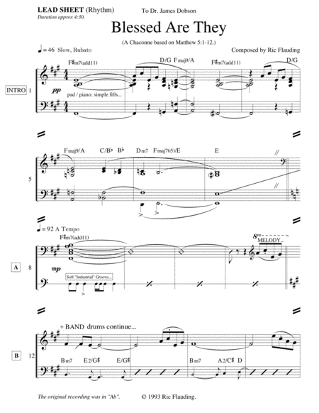 Blessed Are They (Lead Sheet)