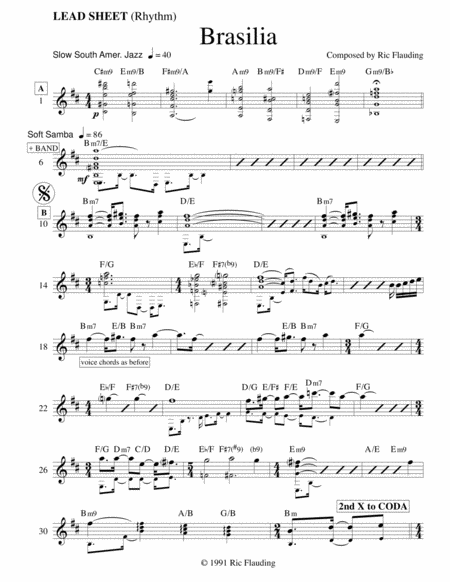 Brasilia (Lead Sheet & Parts)