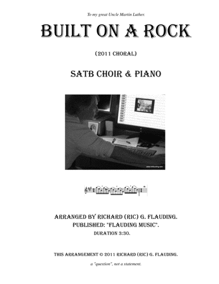 Built on a Rock (Choir & Piano)