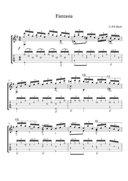 Fantasia by CPE Bach Guitar solo