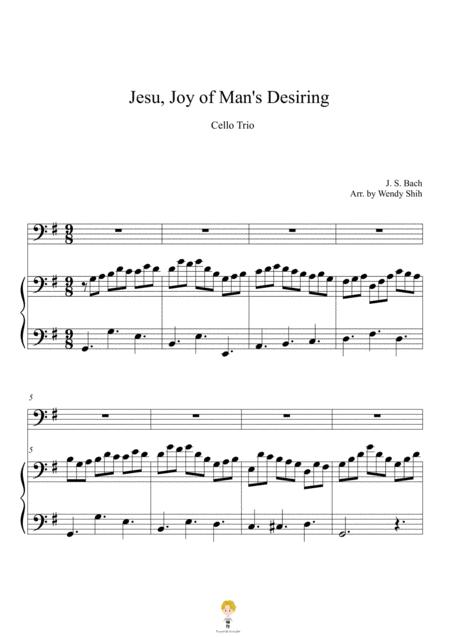 Jesu, Joy of Man's Desiring For Cellos