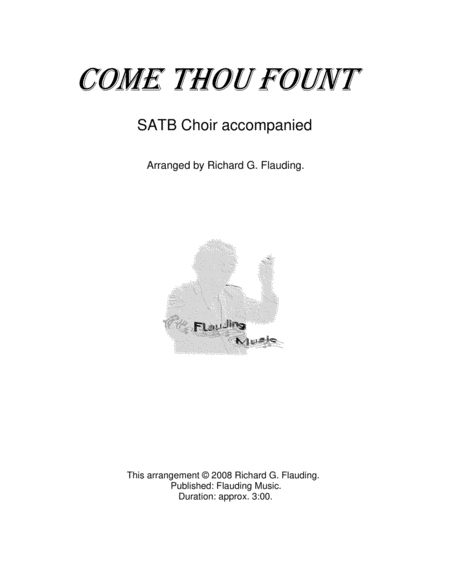 Come Thou Fount (Choir & Piano)