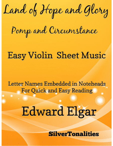 Land of Hope and Glory Easy Violin Sheet Music