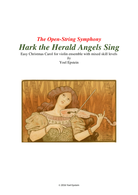 Hark the Herald Angels Sing: Easy Christmas Carol for mixed level violin