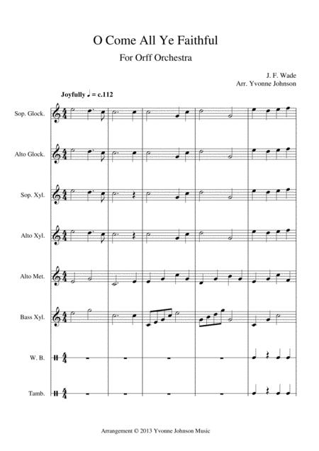 O Come All Ye Faithful - For Orff Ensemble