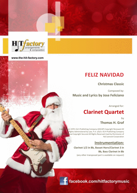 Feliz Navidad - Christmas Classic - Clarinet Quartet