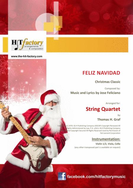 Feliz Navidad - Christmas Classic - String Quartet