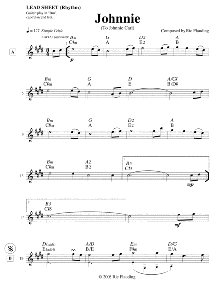 Johnnie (Lead Sheet)