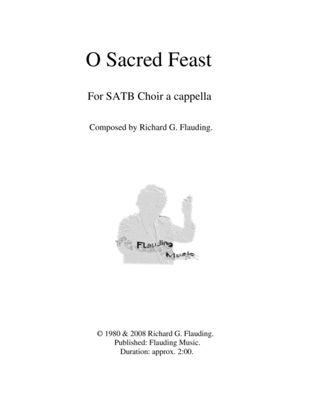 O Sacred Feast (Choir)