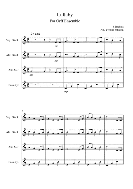 Lullaby - For Orff Ensemble