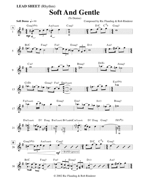 Soft And Gentle (Lead Sheet)