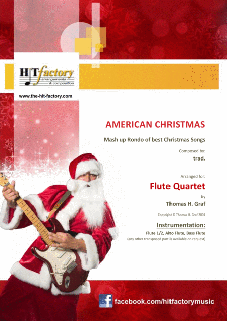 American Christmas - Mash up Rondo of best Christmas Songs - Flute Quartet