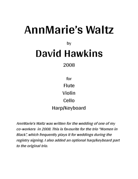 AnnMarie's Waltz (with harp/keyboard)