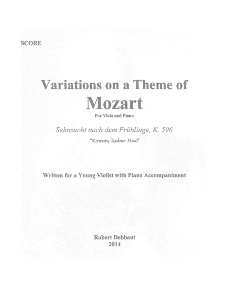 Variations on a Theme of Mozart