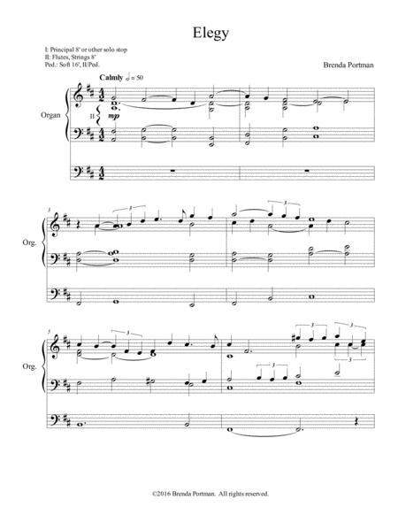 Elegy for organ solo - Brenda Portman