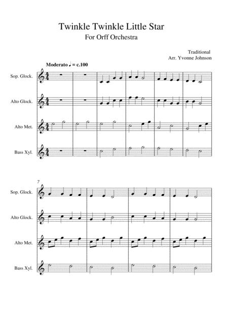Twinkle Twinkle Little Star - For Orff Ensemble