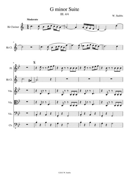 G minor Suite - III. 4/4